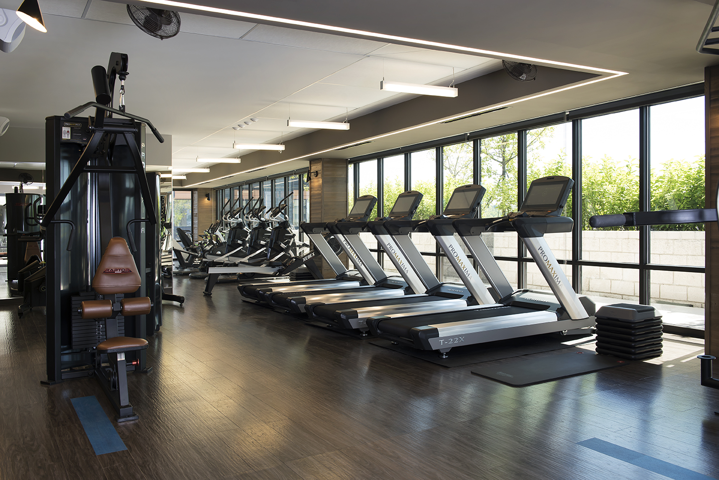 Functional Full Size Fitness Center Skyvue Apartments