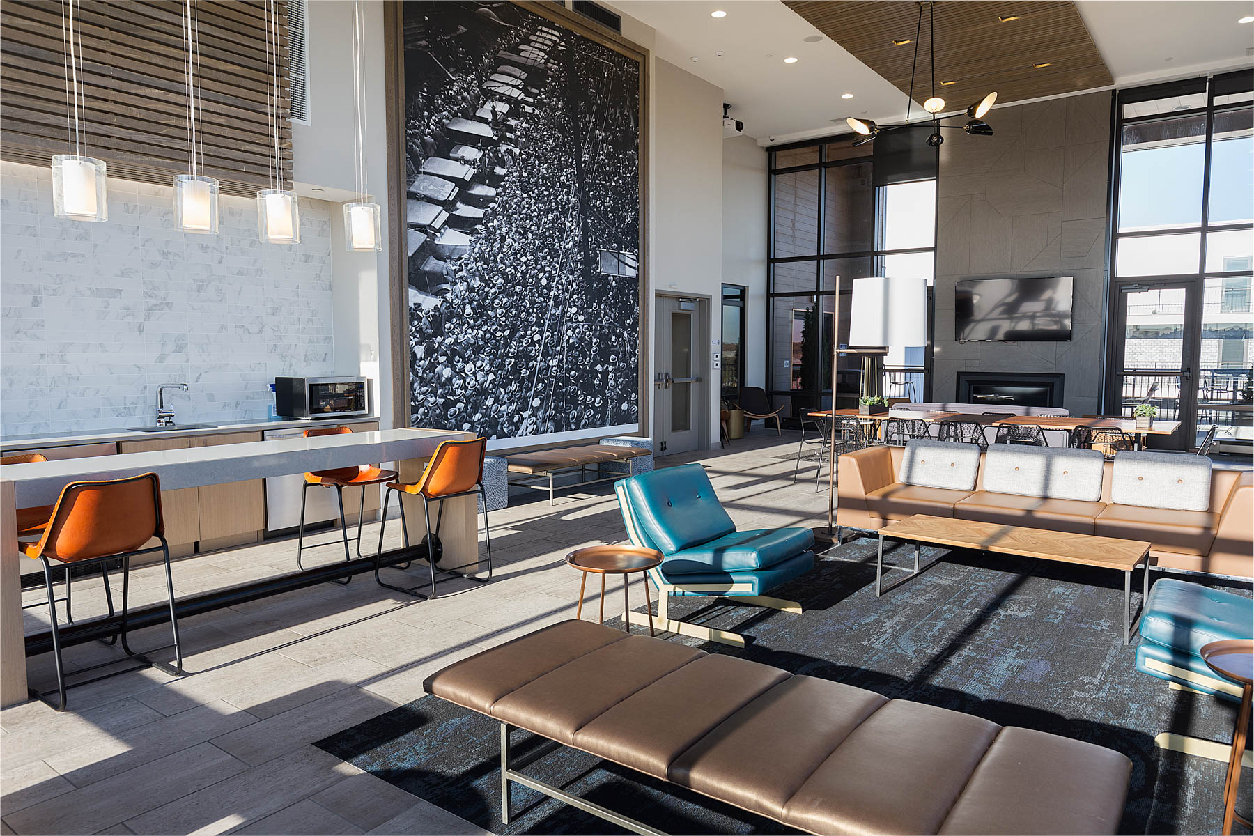 Relaxation And Socializing Areas Skyvue Apartments
